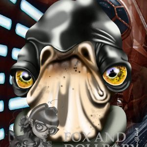 Admiral Raddus from Star Wars pop culture special edition print by noosa artist de Shan