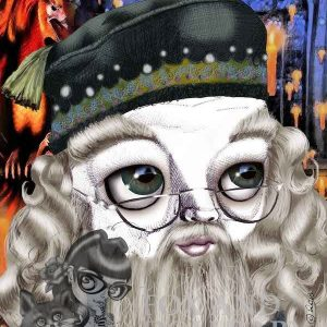 Albus Dumbledore from Harry Potter special edition art print by de Shan