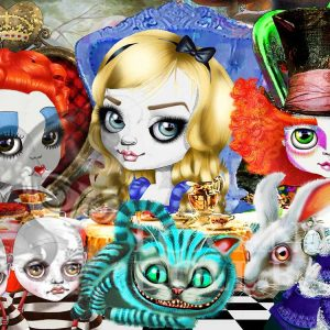 alic tea party limited edition print