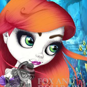 Ariel the Little Mermaid special edition art print by de Shan