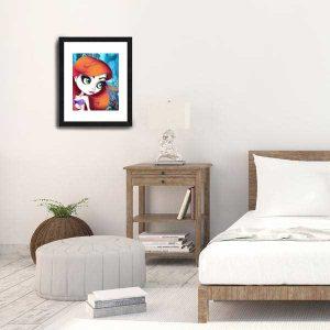 Ariel Little Mermaid special edition print by de Shan