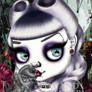 Bad Alice special edition art print by de Shan