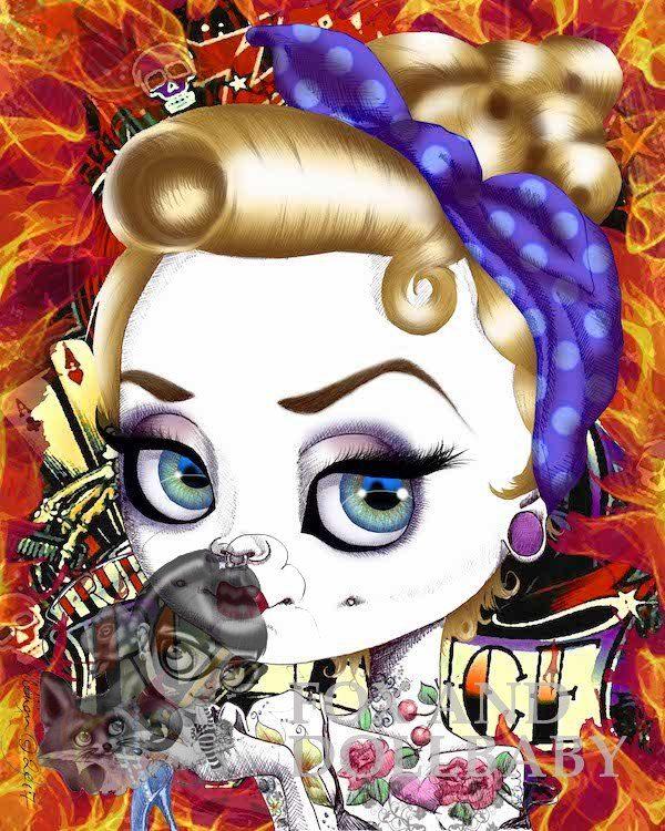 Bad Cinderella special edition art print by de Shan