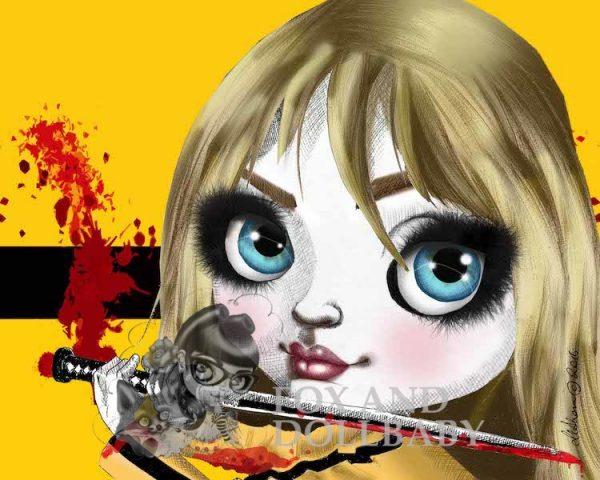 Beatrix from Kill Bill Special Edition Art Prin