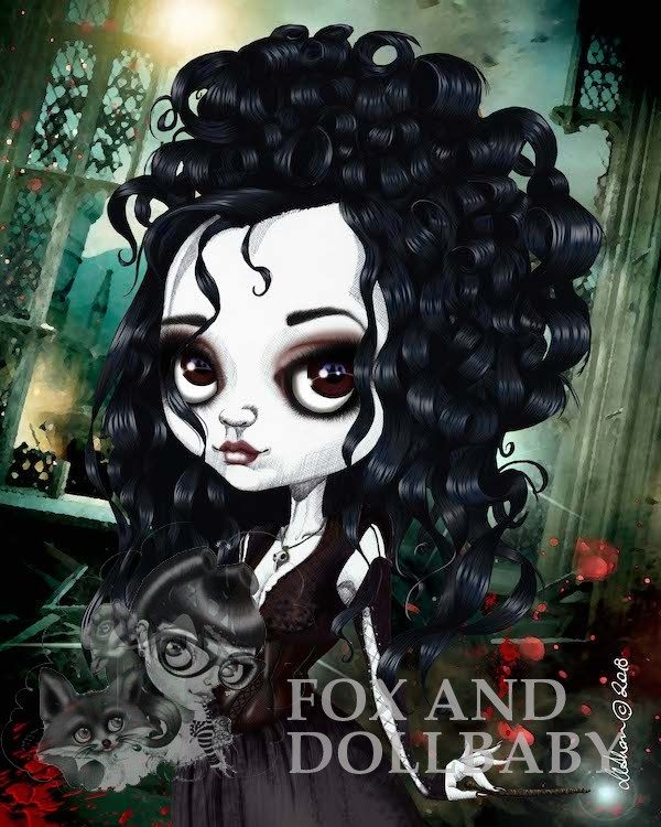 Bellatrix le Strange special edition art print by pop surreal artist de Shan