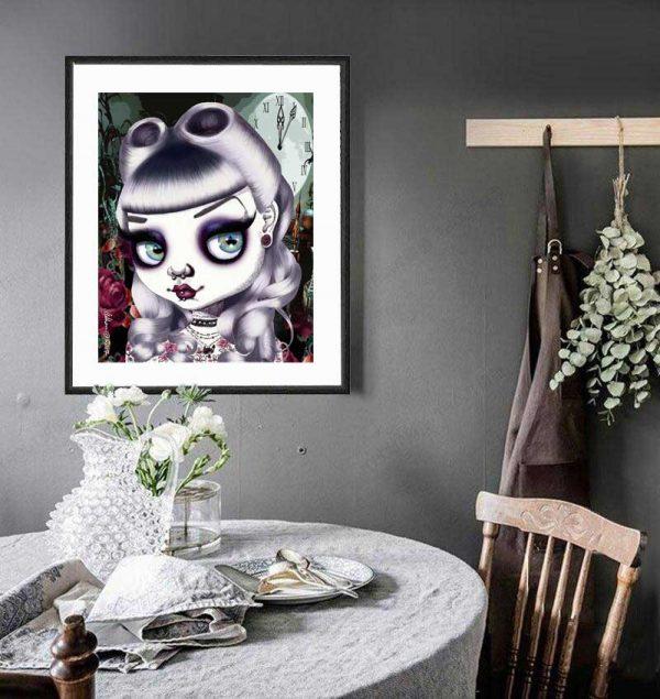 Bad Alice special edition art print by de Shan