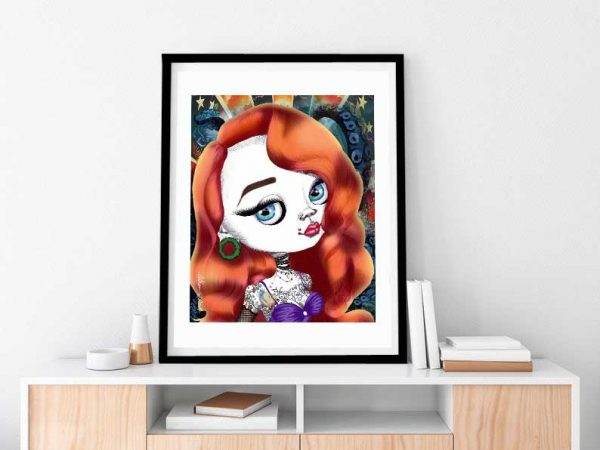 Bad Ariel special edition art print by de Shan