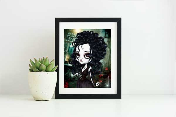Bellatrix le Strange special edition art print by de Shan
