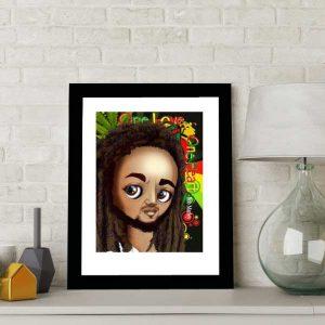 Bob Marley special edition art print by de Shan