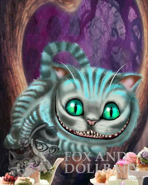 Cheshire Cat from Alice in Wonderland special edition art print by de Shan