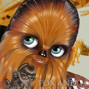 Chewbacca Star Wars Art Print