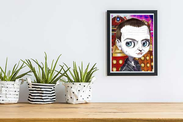 CHRISTOPHER ECCLESTON Dr Who Special Edition Art Print