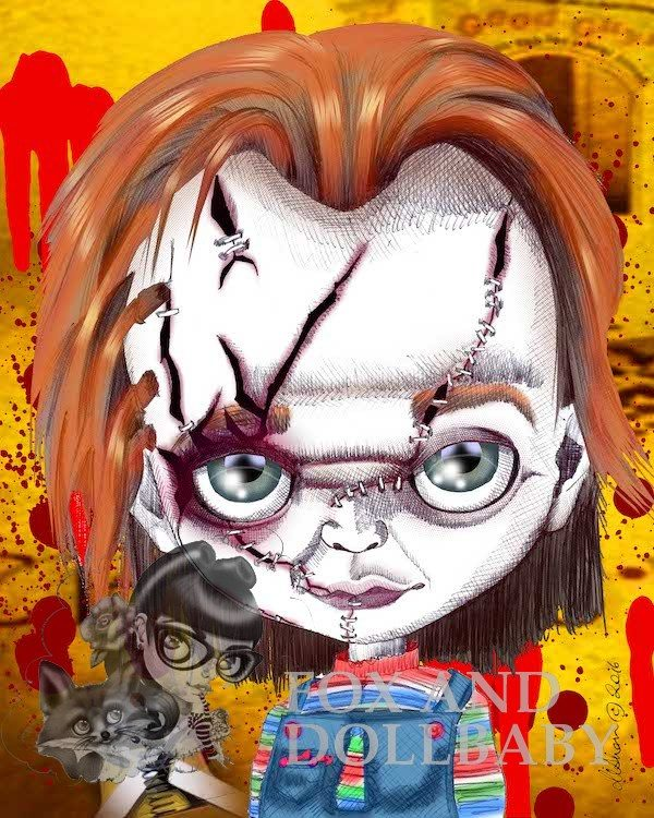 "Chucky from the ""Child's Play"" film franchise Art Print"