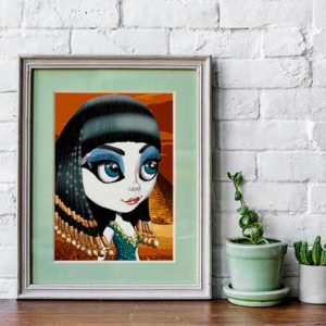 Surrealist pop print Cleopartra