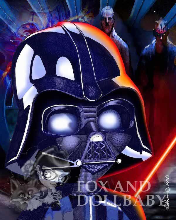 Darth Vader Special Edition Art Print by de Shan