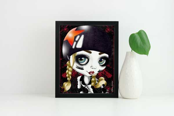 pop surrealism print derby girl