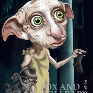 Dobby special edition art print by Noosa artist de Shan