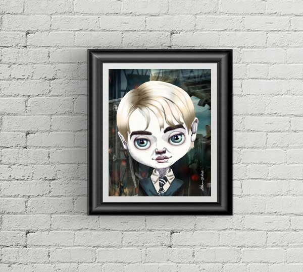 Draco Malfoy special edition art print by de Shan