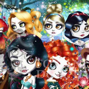avenger limited edition pop art print fairy tale princess