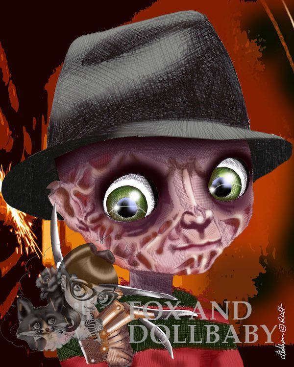 Freddy Krueger Nightmare on Elm Street Edition Art Print