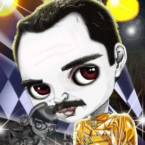 Freddy Mercury special edition art print by de Shan