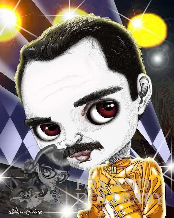 Freddy Mercury special edition art print by de Shan