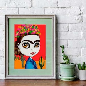 Frida pop art prints