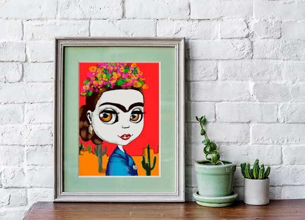 Frida pop art prints