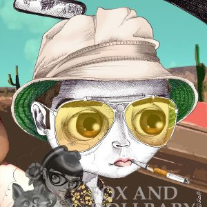 "Johnny Depp as Hunter S. Thompson in ""Fear and Loathing..."" Art Print"
