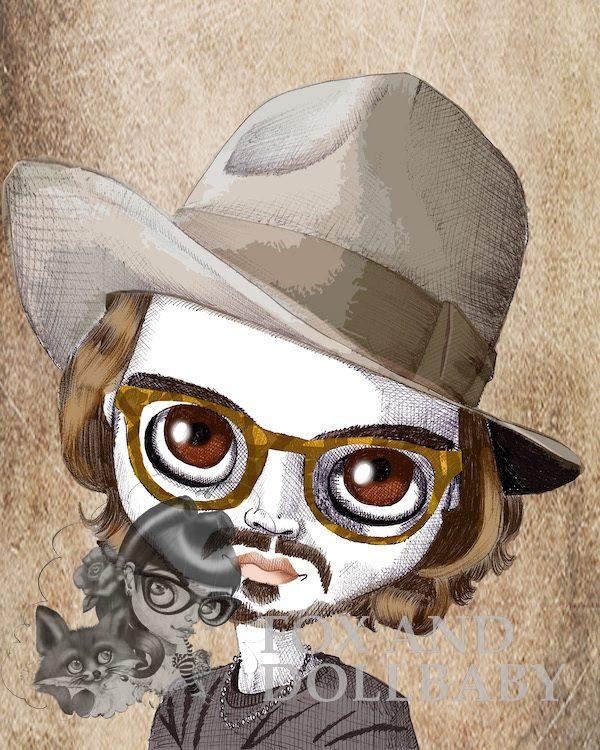 Johnny Depp Special Edition Art Print