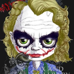 Heath Ledger as The Joker special edition art print by de Shan