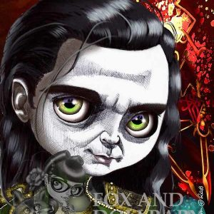 Loki from Ragnarok special edition print by de Shan