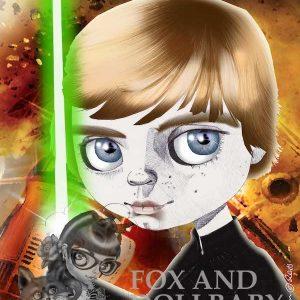 Luke Skywalker from Star Wars special edition print by de Shan