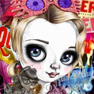 Luna Lovegood special edition print by de Shan