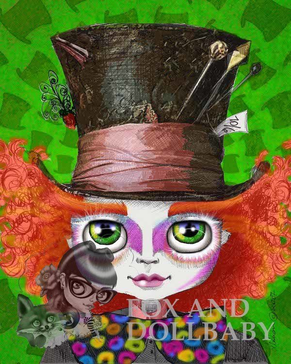 The Mad Hatter special edition art print by de Shan