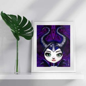 Maleficent from the Disney Movie, by lowbrow artist de Shan