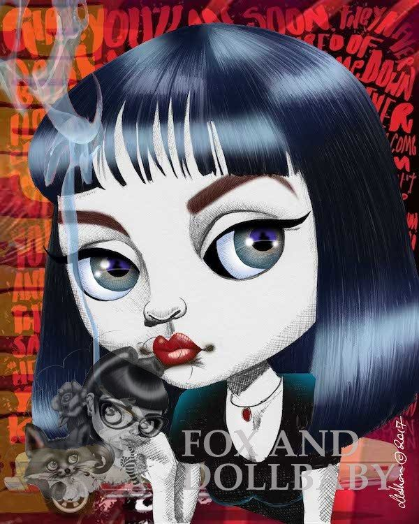 MRS. MIA WALLACE Special Edition Art Print