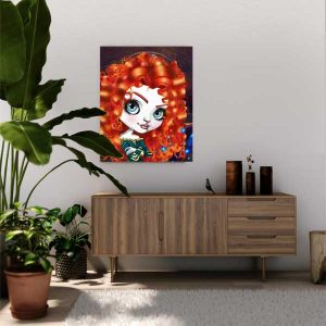 Merida Disney movie Brave art print