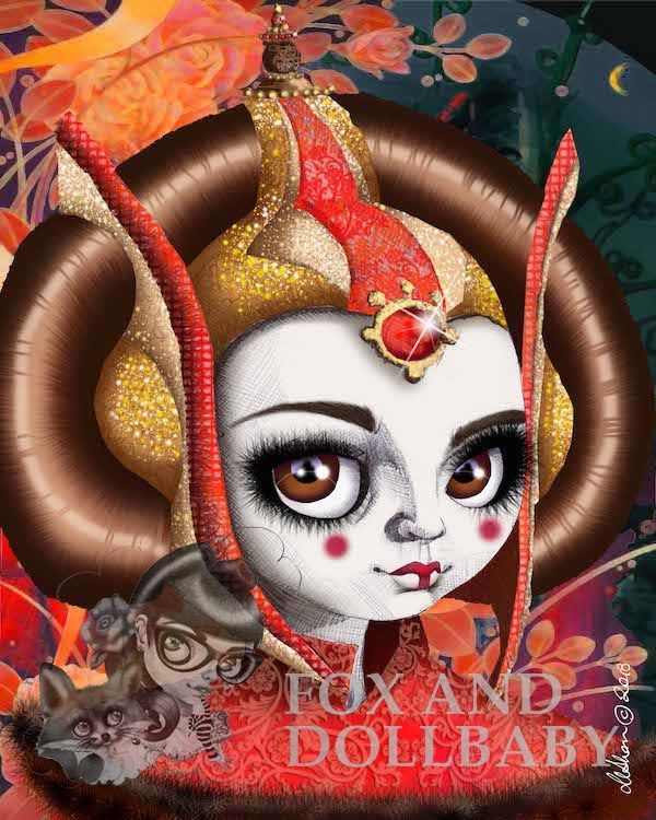 Queen Padme Amidala special edition print by de Shan