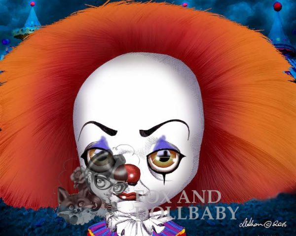 Pennywise from IT movie Special Edition Art Print