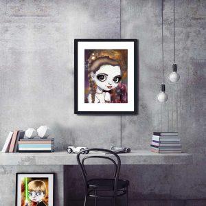 Princess Leia Slave special edition art print by de Shan