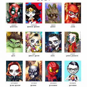 Superheroes 2021 Calendar