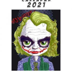 Super Heros calendar 2021