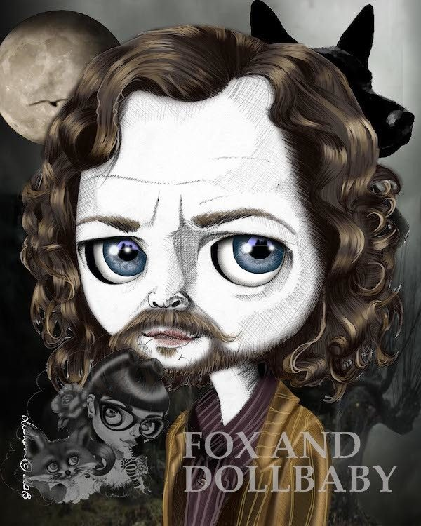 Sirius Black special edition art print by de Shan