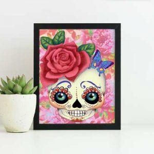 blythe doll print sugar skull