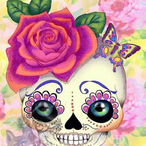 Sugar skull pop surreal print