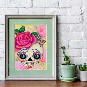 pop surreal print sugar skull