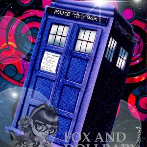 Tardis Dr Who Special Edition Art Print