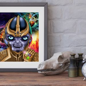 Thanos special edition art print by de Shan