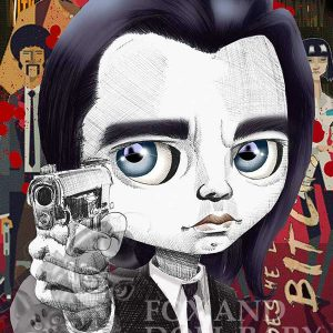 pop surrealist print Vincent vega pulp fiction